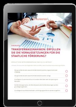 Checkliste zur Prüfung der staatlichen Förderung einer Transfergesellschaft