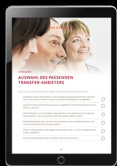 Checkliste Transferanbieter