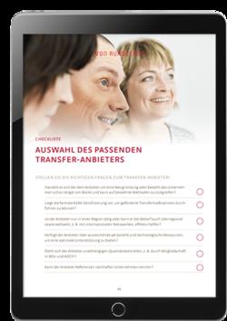 Vorschau zur Checkliste Auswahl des Transferanbieters