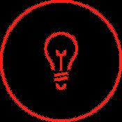 Die Zeichnung einer Glühbirne illustriert die Innovationskraft unserer Outplacement Berater.