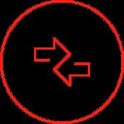 Ein Icon zeigt zwei Pfeile. Wir unterstützen beim Aufbau einer Transfergesellschaft.