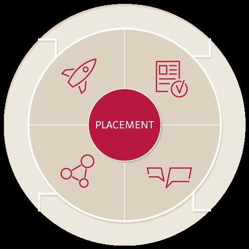 Outplacement und Newplacement: Darstellung des Prozesses in einer Infografik.