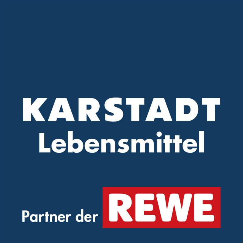 Das kombinierte Logo von Karstadt Lebensmittel und REWE