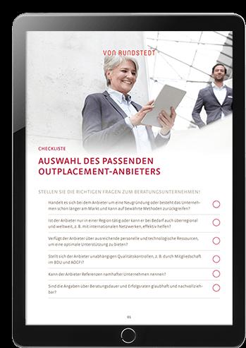 Mit dieser Checkliste finden Arbeitnehmer und Arbeitgeber den passenden Outplacement Anbieter